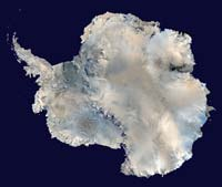 Спутниковая фотография Антарктиды. (Откроется в новом окне)